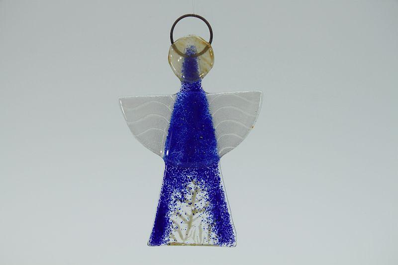 Glasengel Engel klein dunkelblau Baum 1