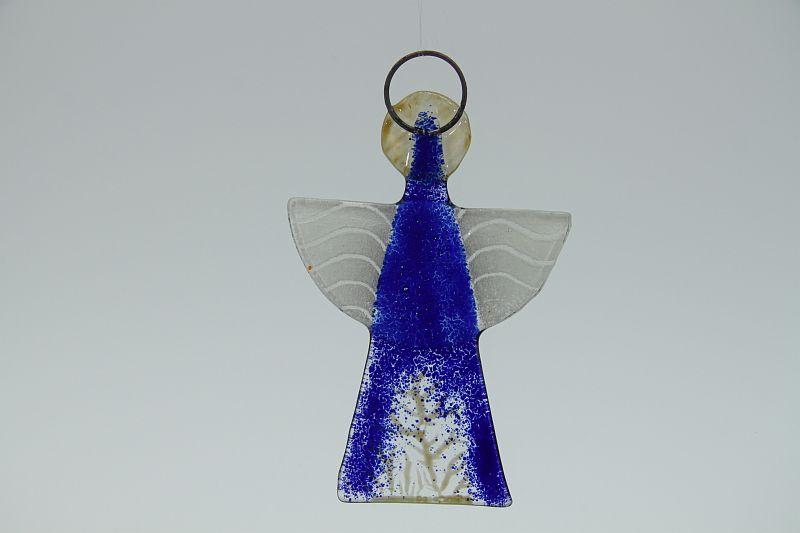 Glasengel Engel klein dunkelblau Baum 2