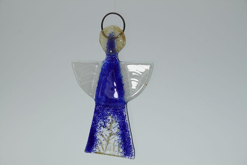 Glasengel Engel klein dunkelblau Baum 3