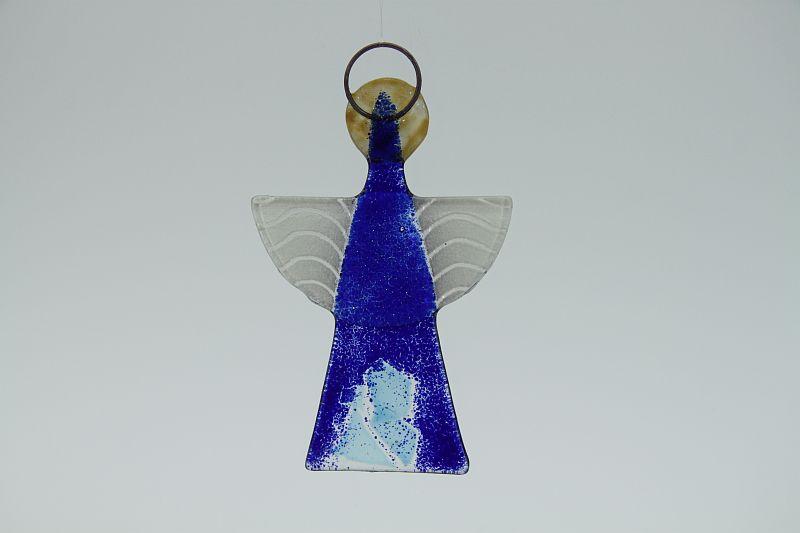 Glasengel Engel klein dunkelblau blau 2