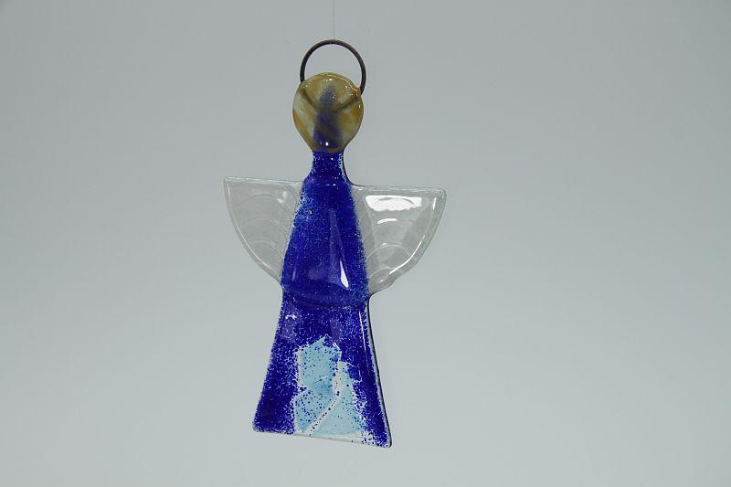 Glasengel Engel klein dunkelblau blau 3