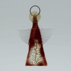 Glasengel Engel klein dunkelrot Baum 1