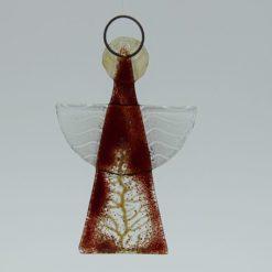 Glasengel Engel klein dunkelrot Baum 2