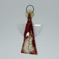 Glasengel Engel klein dunkelrot Baum 3