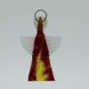 Glasengel Engel klein dunkelrot gelb 1