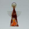 Glasengel Engel klein dunkelrot orange 1 1