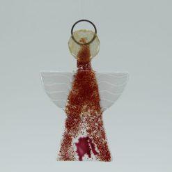 Glasengel Engel klein dunkelrot rose 1