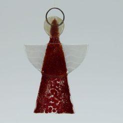 Glasengel Engel klein dunkelrot rot 1 1