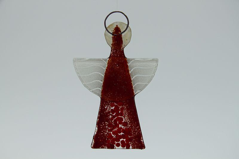 Glasengel Engel klein dunkelrot rot 1 2