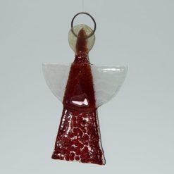 Glasengel Engel klein dunkelrot rot 1 3