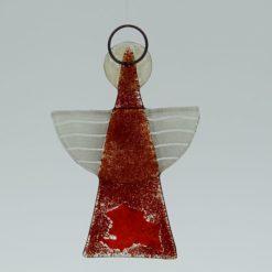 Glasengel Engel klein dunkelrot rot 2 2