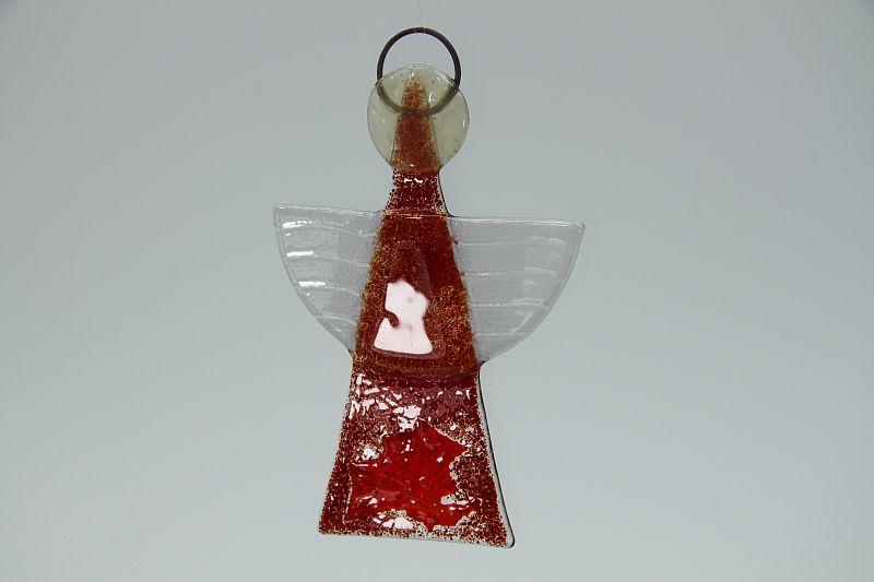 Glasengel Engel klein dunkelrot rot 2 3