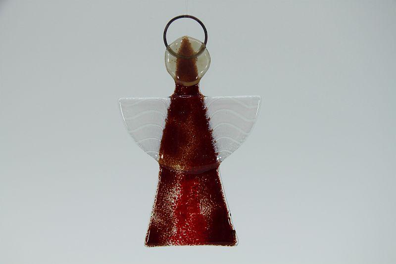 Glasengel Engel klein dunkelrot rot 3 1
