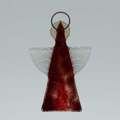 Glasengel Engel klein dunkelrot rot 3 2