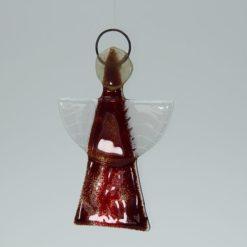 Glasengel Engel klein dunkelrot rot 3 3