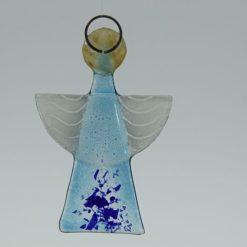 Glasengel Engel klein hellblau blau 2