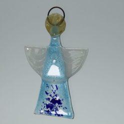 Glasengel Engel klein hellblau blau 3