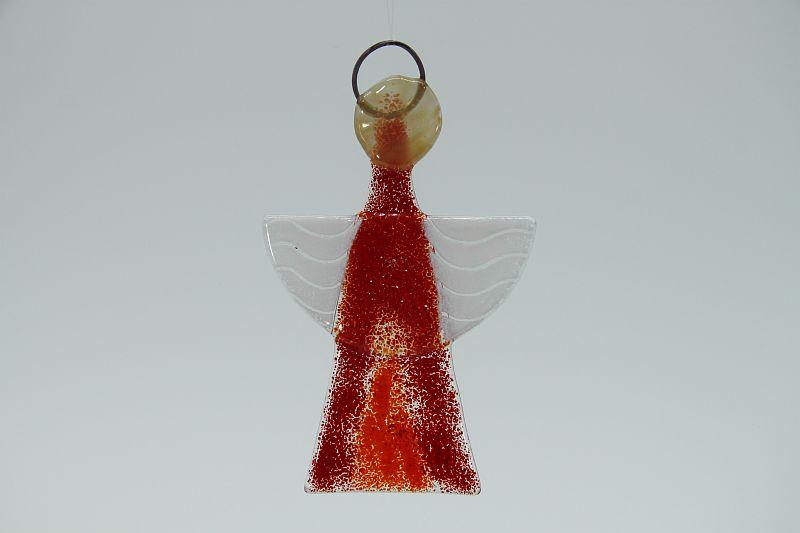Glasengel Engel klein hellrot rot 1 1
