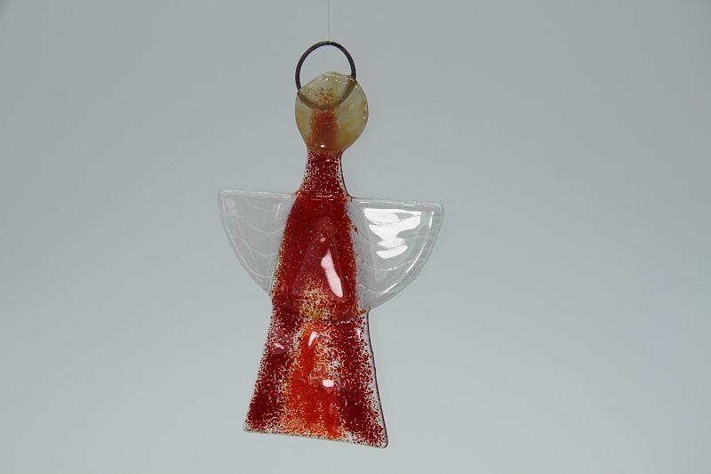 Glasengel Engel klein hellrot rot 1 3