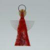 Glasengel Engel klein hellrot rot 2 1