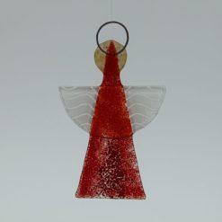 Glasengel Engel klein hellrot rot 2 2