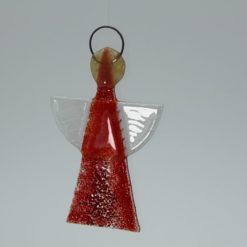 Glasengel Engel klein hellrot rot 2 3