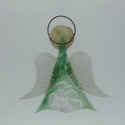 Glasengel Engel mittel Kristall grün 1