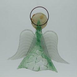 Glasengel Engel mittel Kristall grün 2