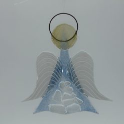 Glasengel Engel mittel Kristall hell blau 1