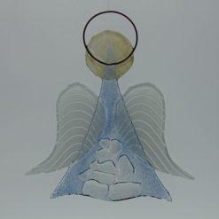 Glasengel Engel mittel Kristall hell blau 2