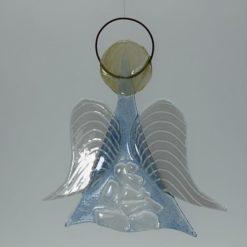 Glasengel Engel mittel Kristall hell blau 3