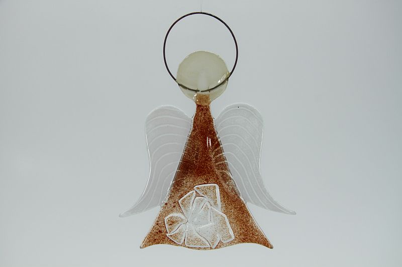Glasengel Engel mittel Kristall rot 1