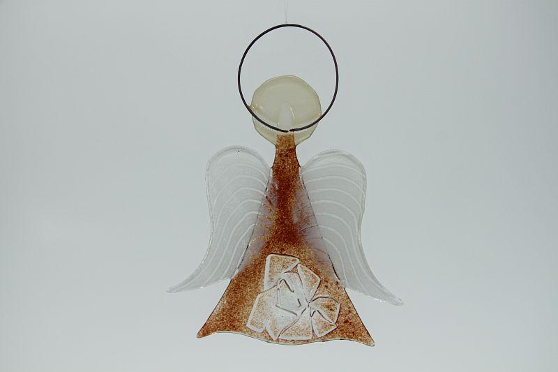 Glasengel Engel mittel Kristall rot 2