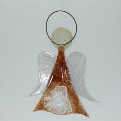 Glasengel Engel mittel Kristall rot 3