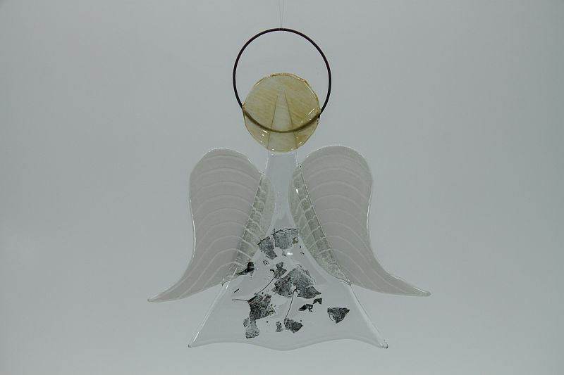 Glasengel Engel mittel Metall 1