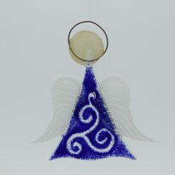 Glasengel Engel mittel dunkelblau barock 1