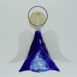 Glasengel Engel mittel dunkelblau blau 1 1