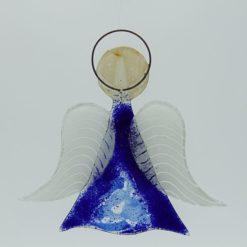 Glasengel Engel mittel dunkelblau blau 1 2