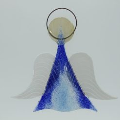 Glasengel Engel mittel dunkelblau blau 2 1