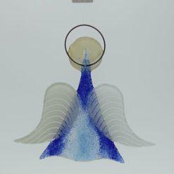 Glasengel Engel mittel dunkelblau blau 2 2