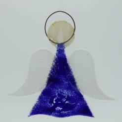 Glasengel Engel mittel dunkelblau blau 3 1
