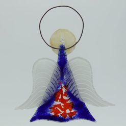 Glasengel Engel mittel dunkelblau rot 2