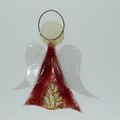 Glasengel Engel mittel dunkelrot Baum 3