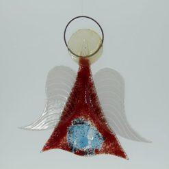 Glasengel Engel mittel dunkelrot blau 3