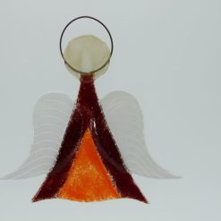 Glasengel Engel mittel dunkelrot orange 2 1
