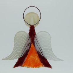Glasengel Engel mittel dunkelrot orange 2 2
