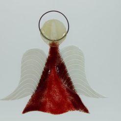 Glasengel Engel mittel dunkelrot rot 1