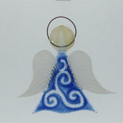 Glasengel Engel mittel hellblau barock 1