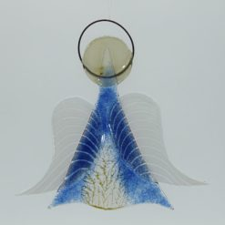 Glasengel Engel mittel hellblau baum 1