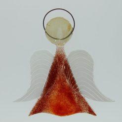 Glasengel Engel mittel hellrot rot 1